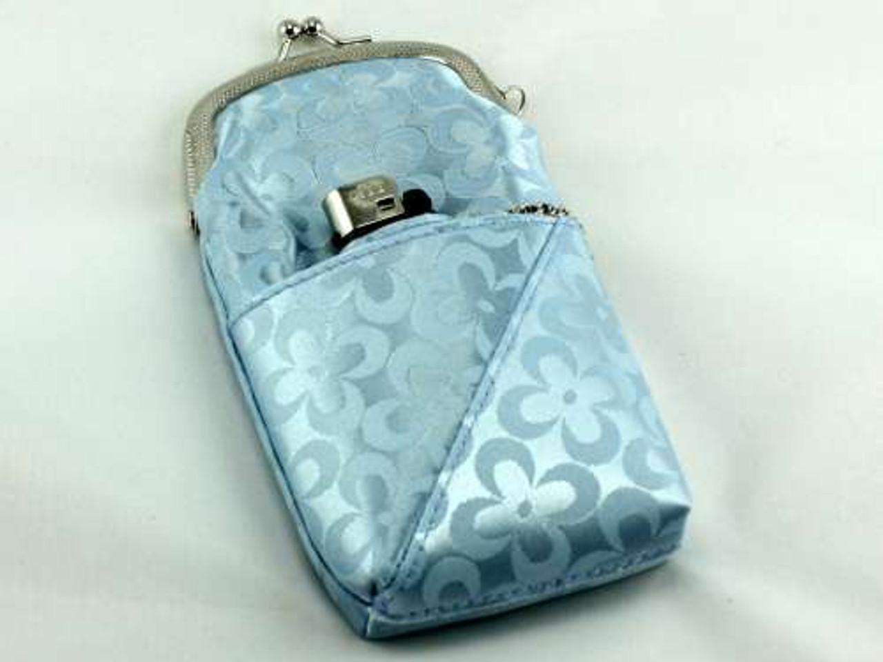 Blue Floral 120 Cigarette Pack Holder