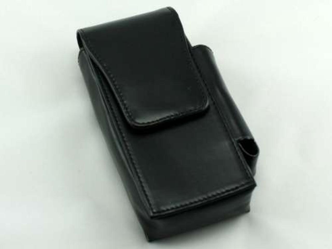 Black Leather Flip Cigarette Pack Holder