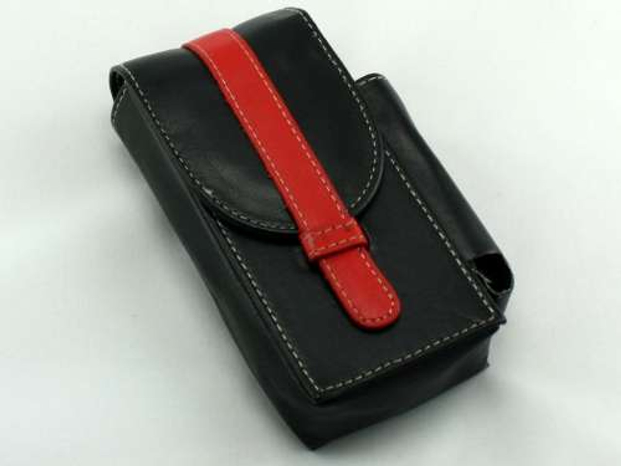 Red Stripe Leather Cigarette Pack Holder