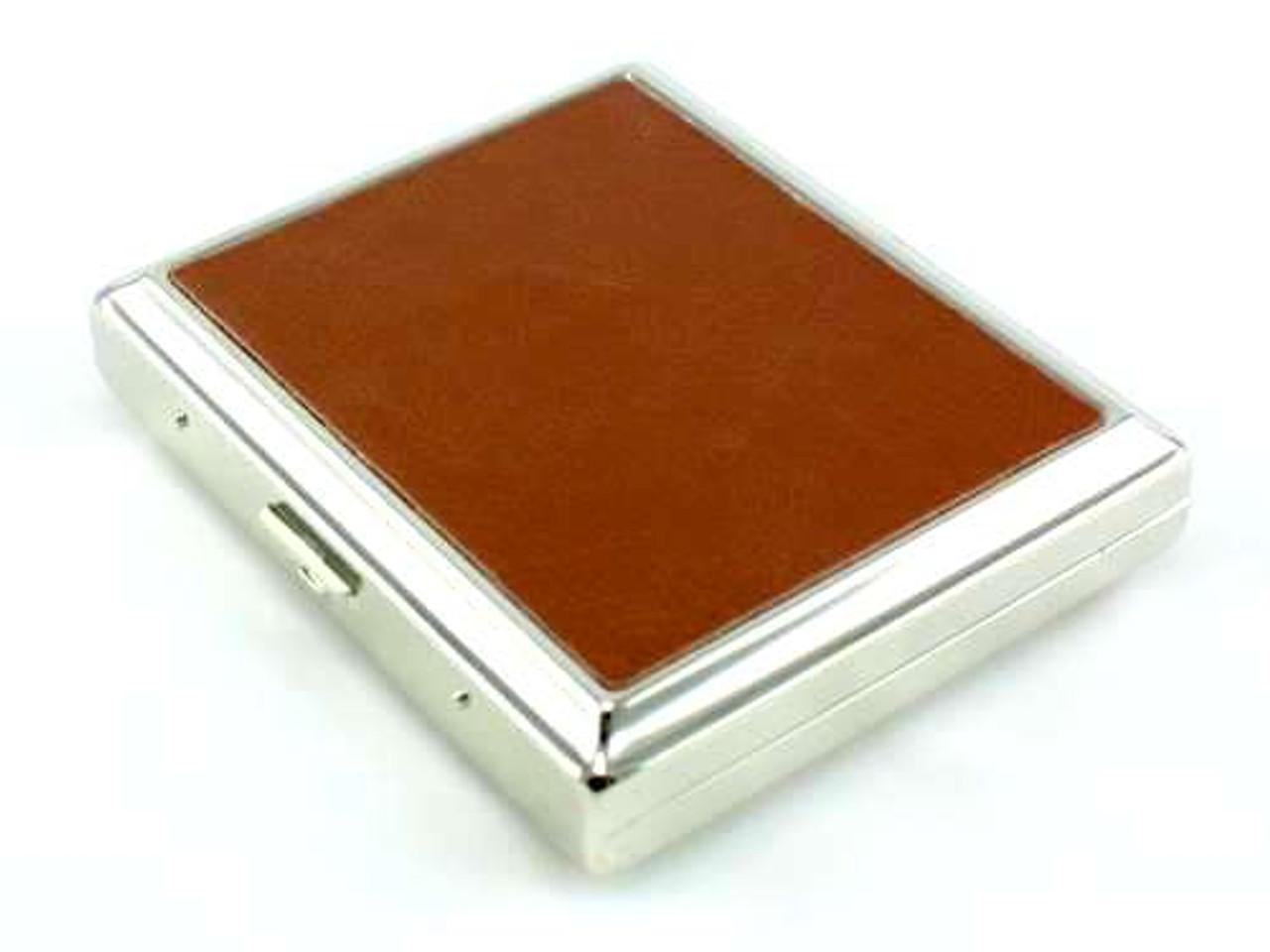 Classic Brown Leather Cigarette Case
