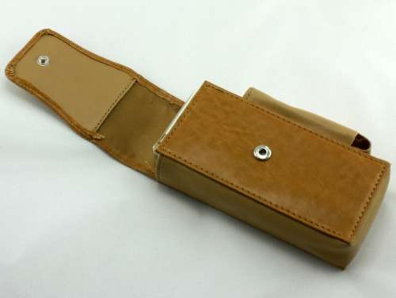 Tan Leather Cigarette Pack Holder