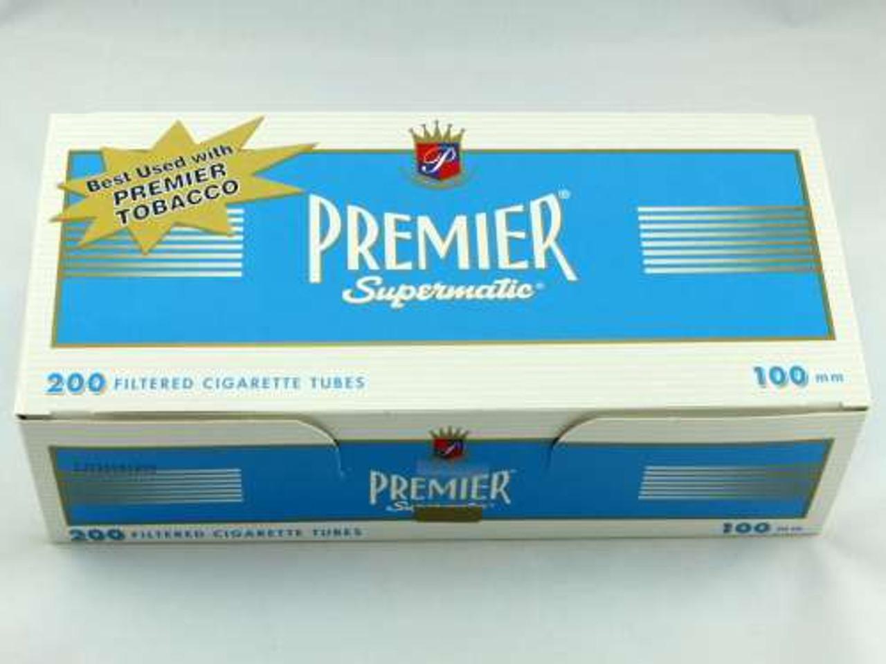 Premier Light 100's Cigarette Tubes