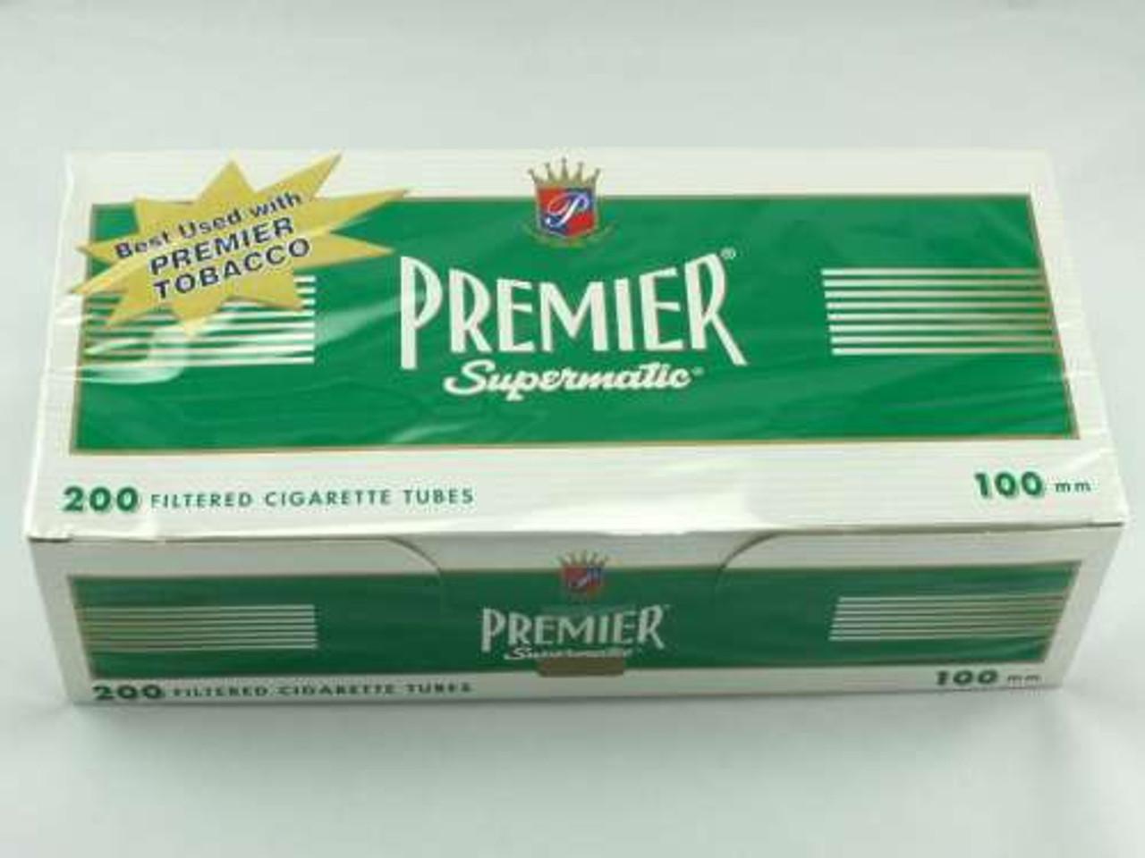 Premier Menthol 100's Cigarette Tubes