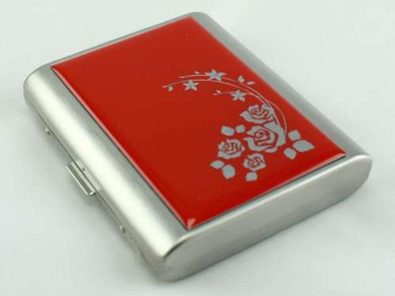 Red Flower Cigarette Case