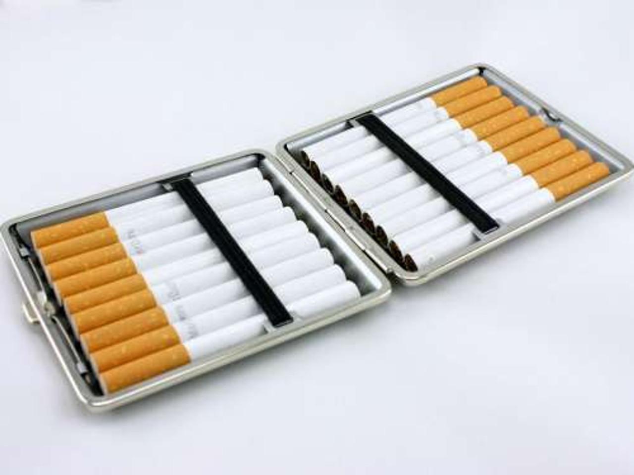 Gray Weaved Cigarette Case