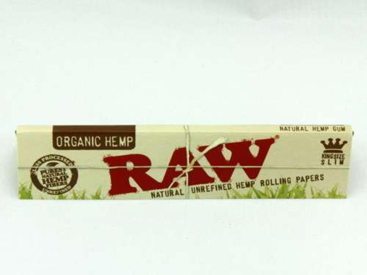 RAW Kingsize Slim Organic Hemp Rolling Papers