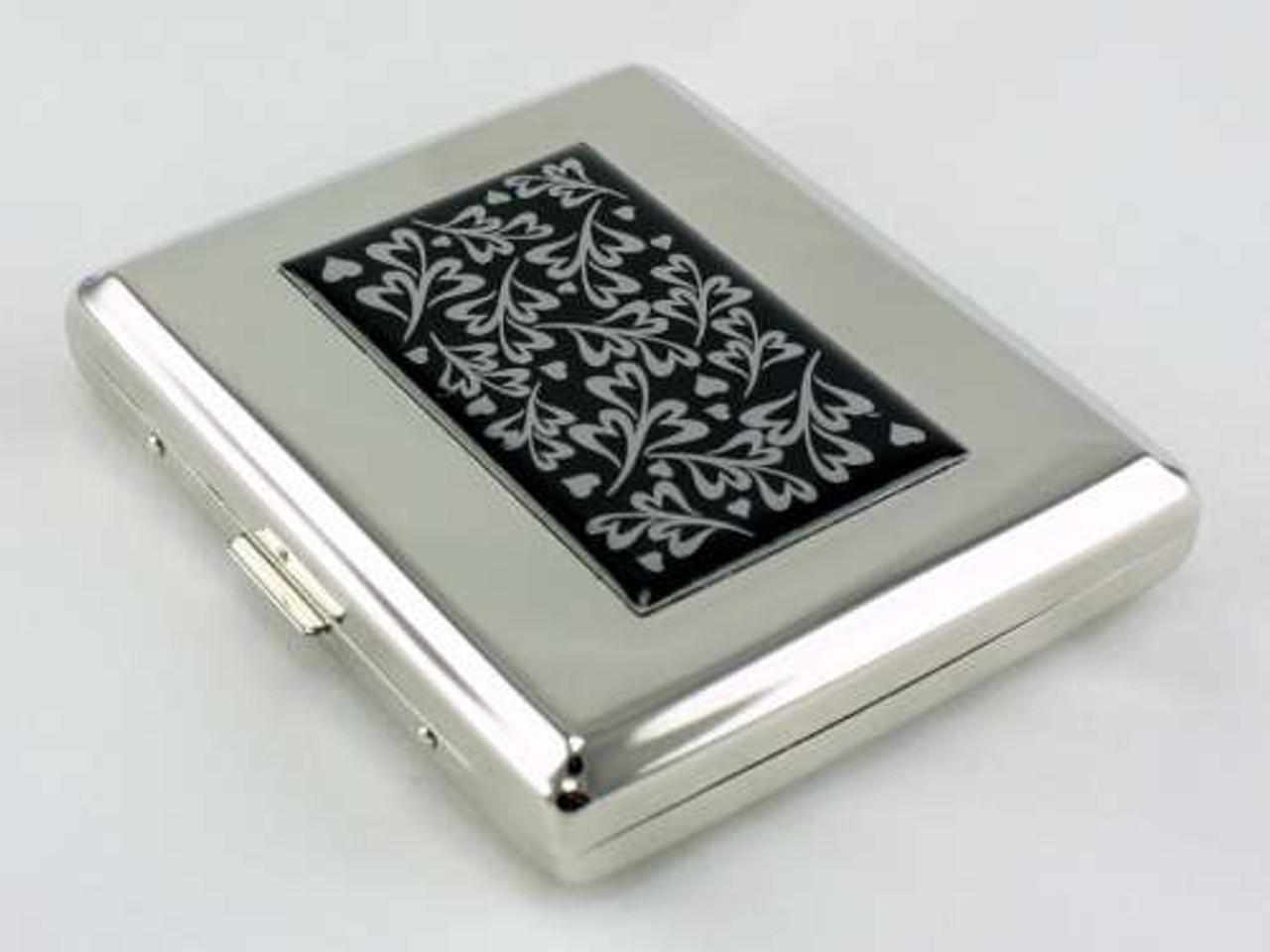 Silver Hearts Cigarette Case