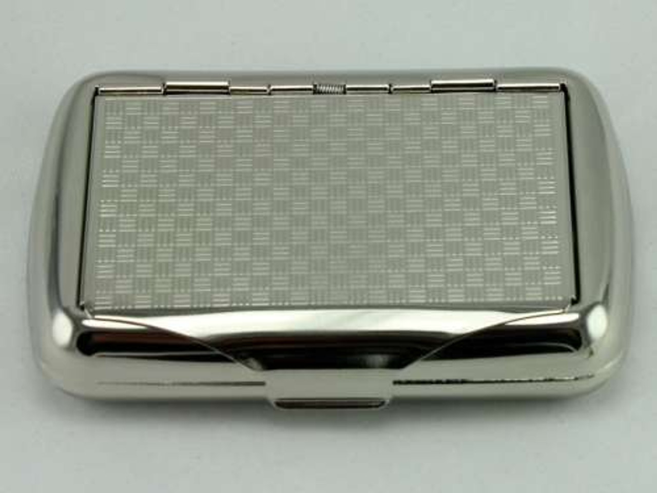 Lucienne Silver Checkered Tobacco Box