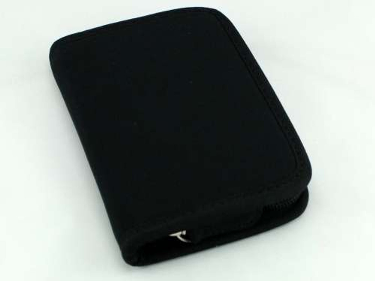Black Nylon Zippered Tobacco Pouch