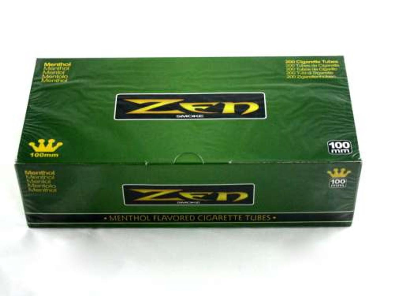 Zen Menthol 100's Cigarette Tubes