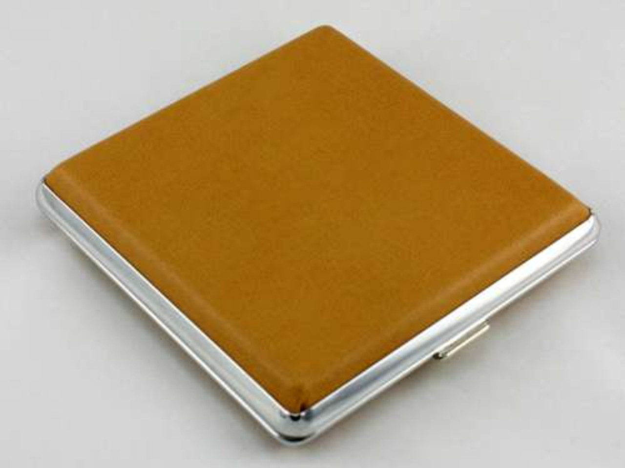 Smooth Tan Leather Cigarette Case