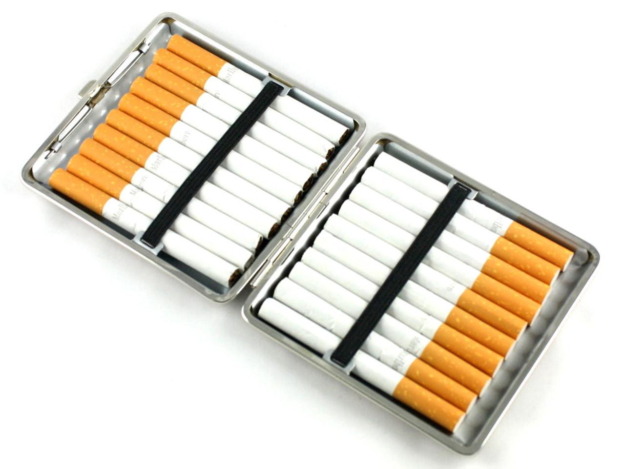 Checker Brown Cigarette Case