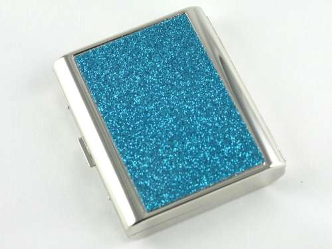 Turquoise Sparkling Cigarette Case