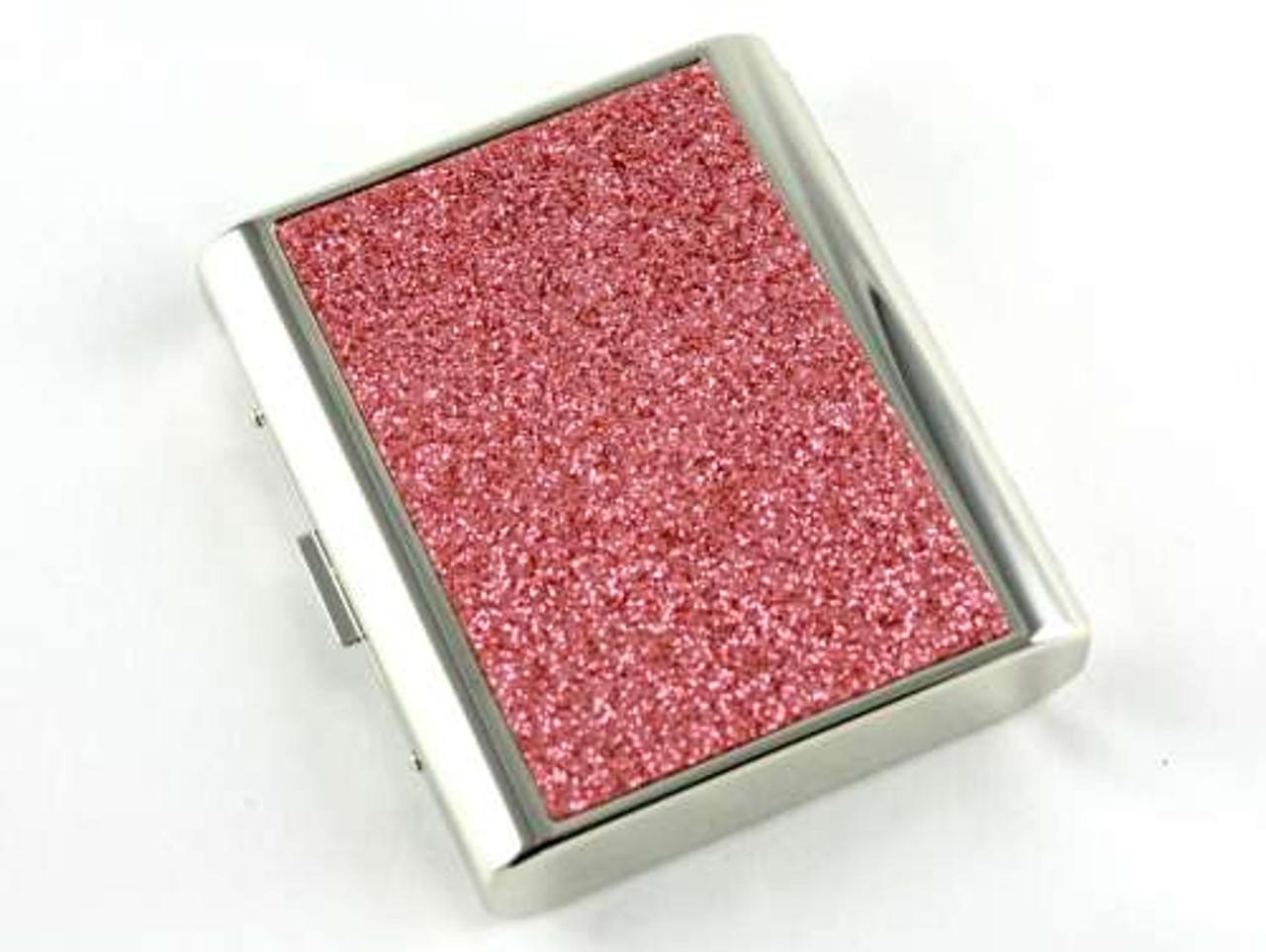 Pink Sparkling Cigarette Case