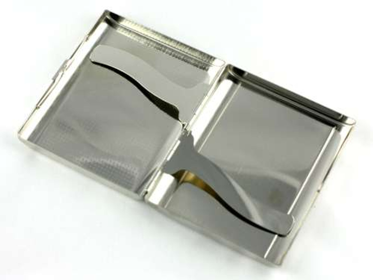 Black Abalone Checkered Cigarette Case