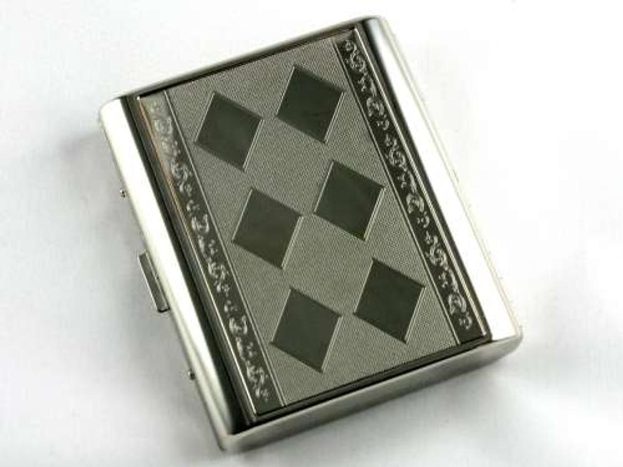 Silver Fine Diamond Cigarette Case