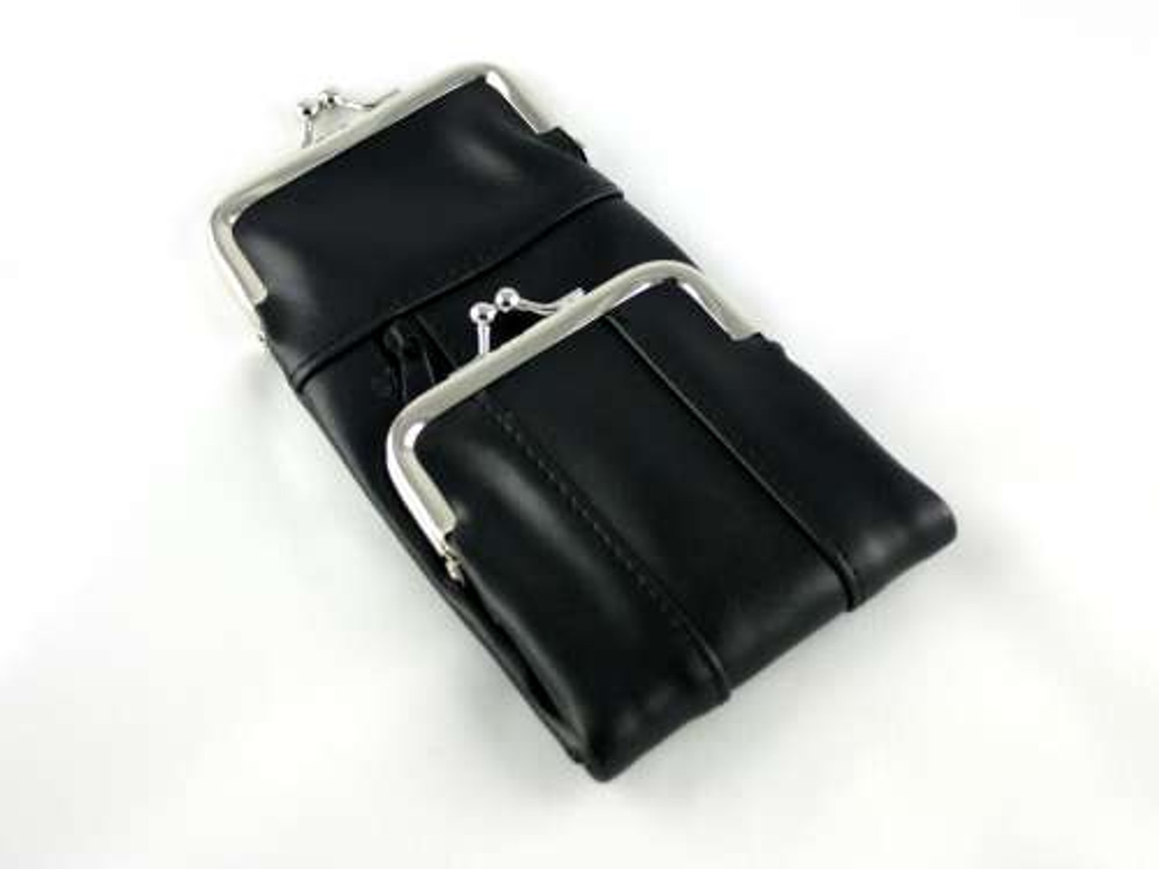 Black Leather Combo Cigarette Pack Holder