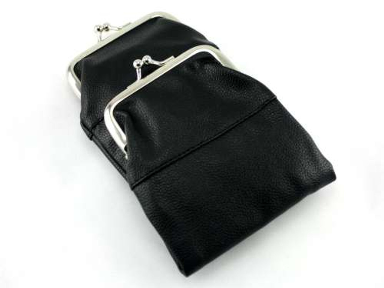 Black Leather Purse Cigarette Pack Holder
