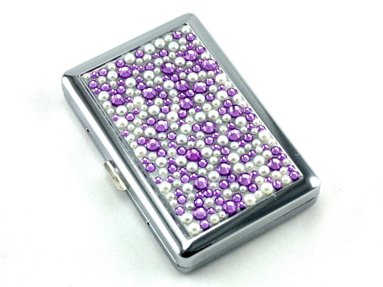 Purple Rain Stone 100 Cigarette Case
