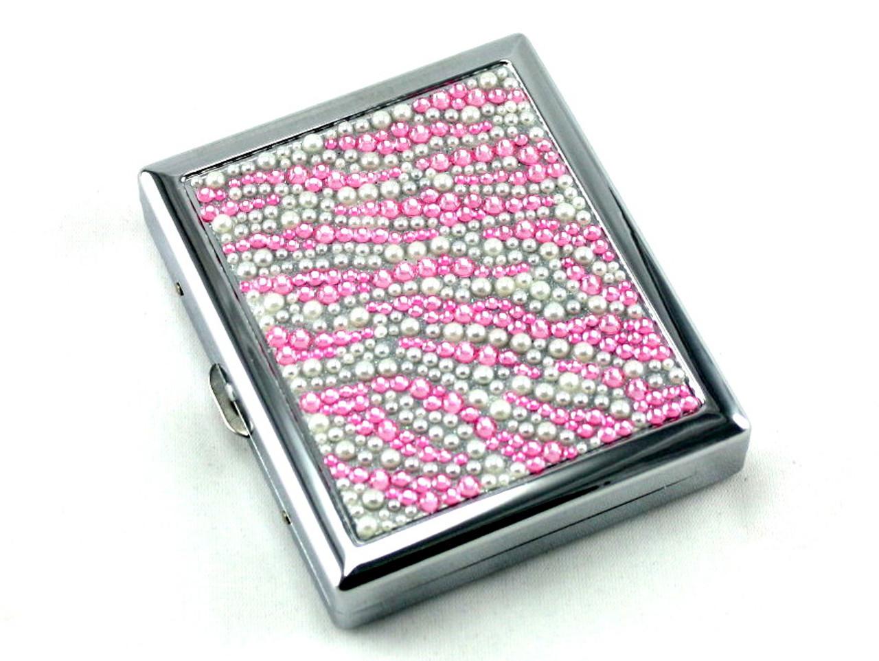 Pink Zebra Stone Cigarette Case