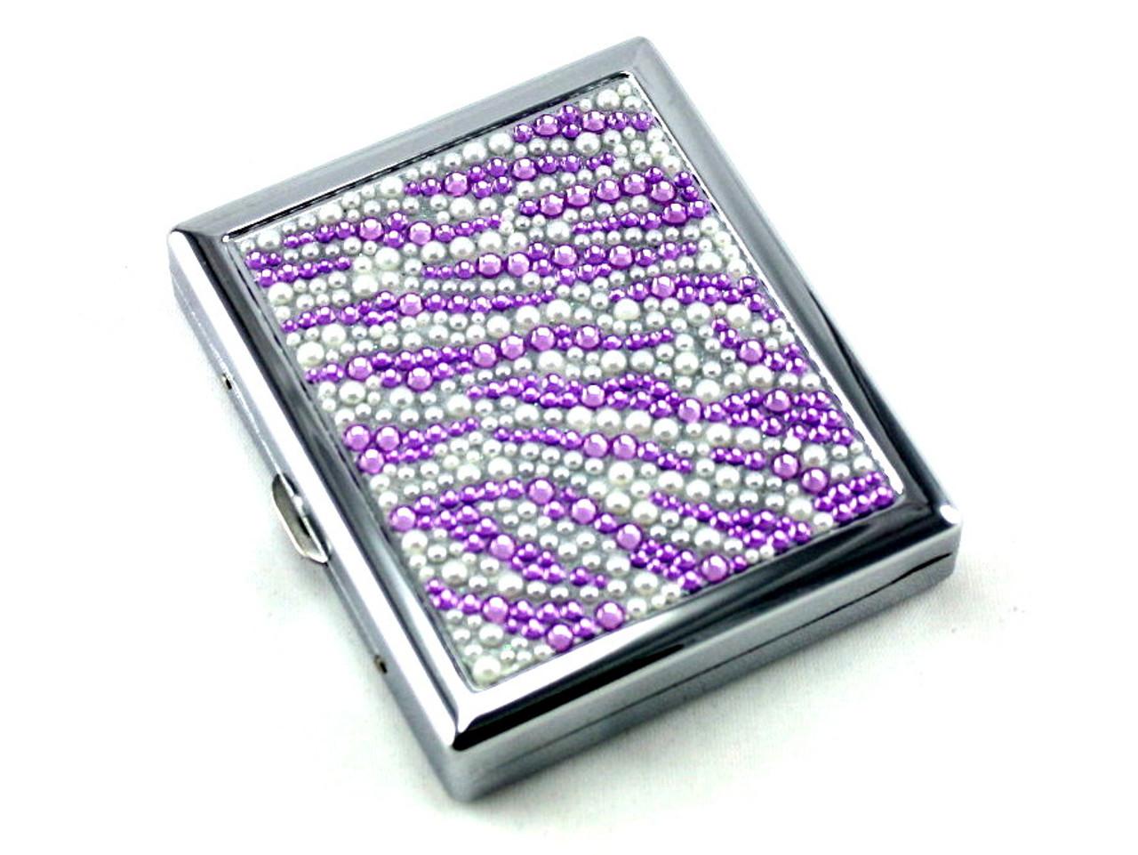Purple Zebra Stone Cigarette Case