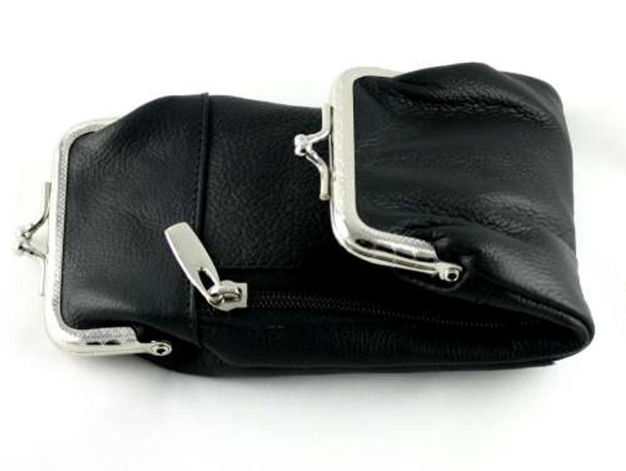 Black Leather Deluxe Cigarette Pack Holder