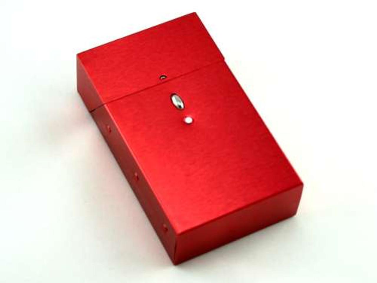 Satin Red Cigarette Pack Holder