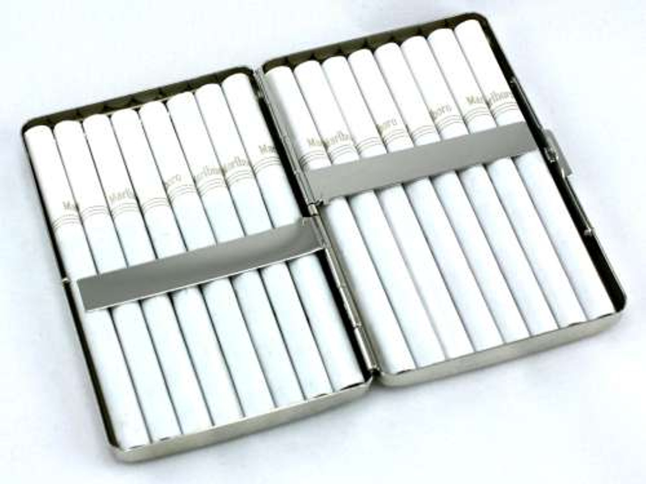 Silver Sparkling Cheetah Cigarette Case