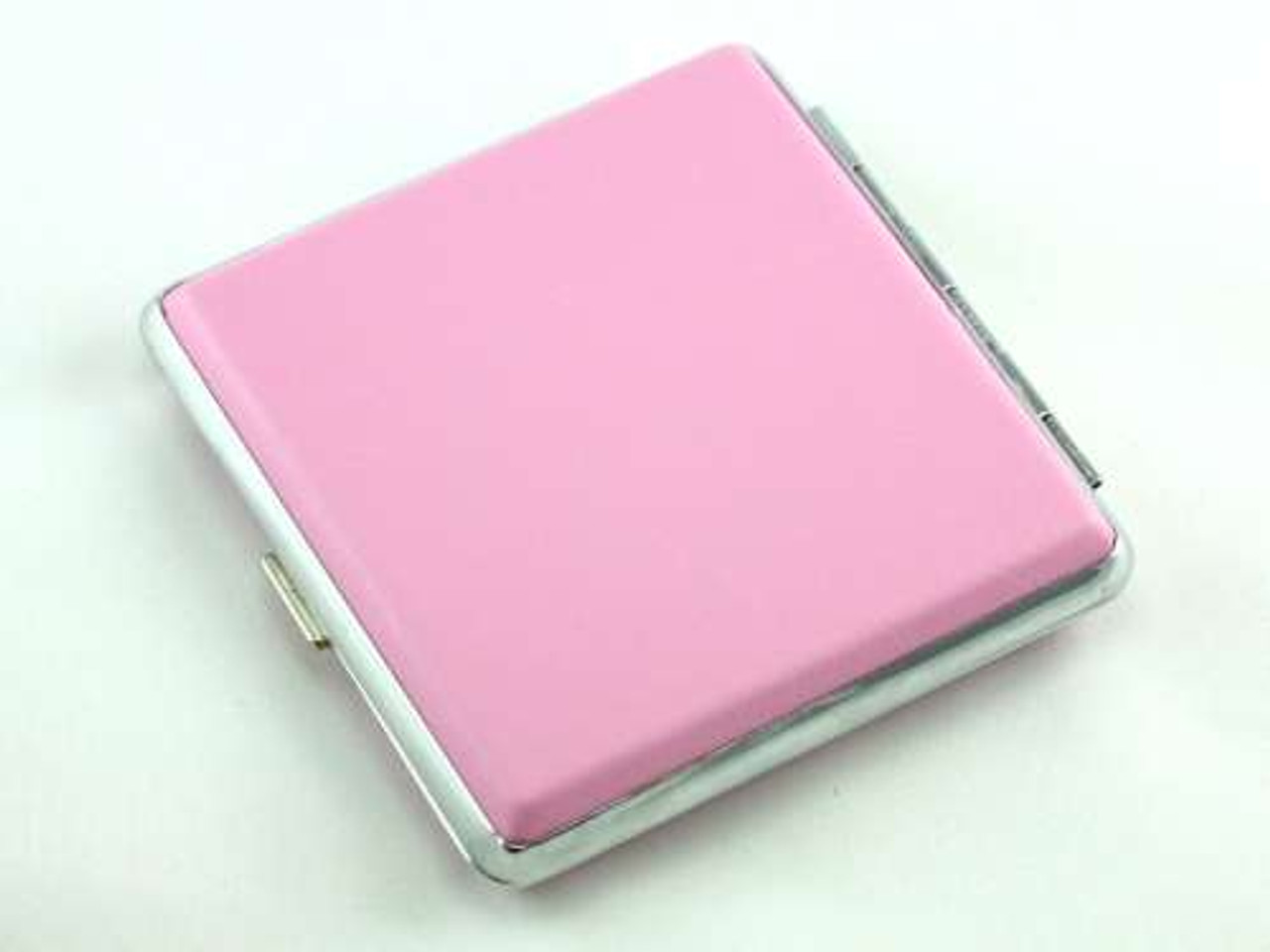 Pink Leather Kings Cigarette Case