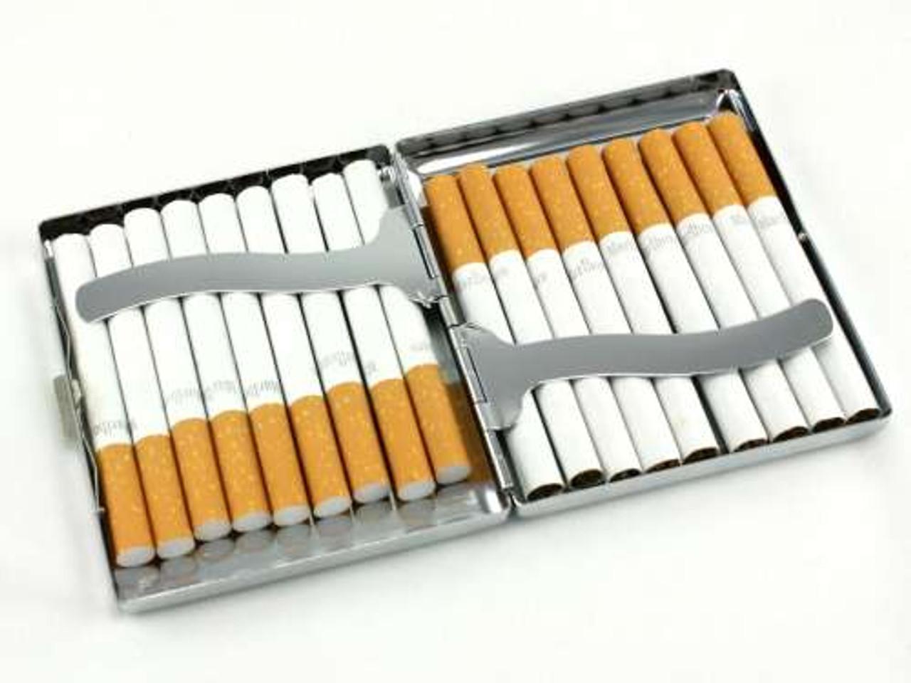 Silver Sun Burst Cigarette Case