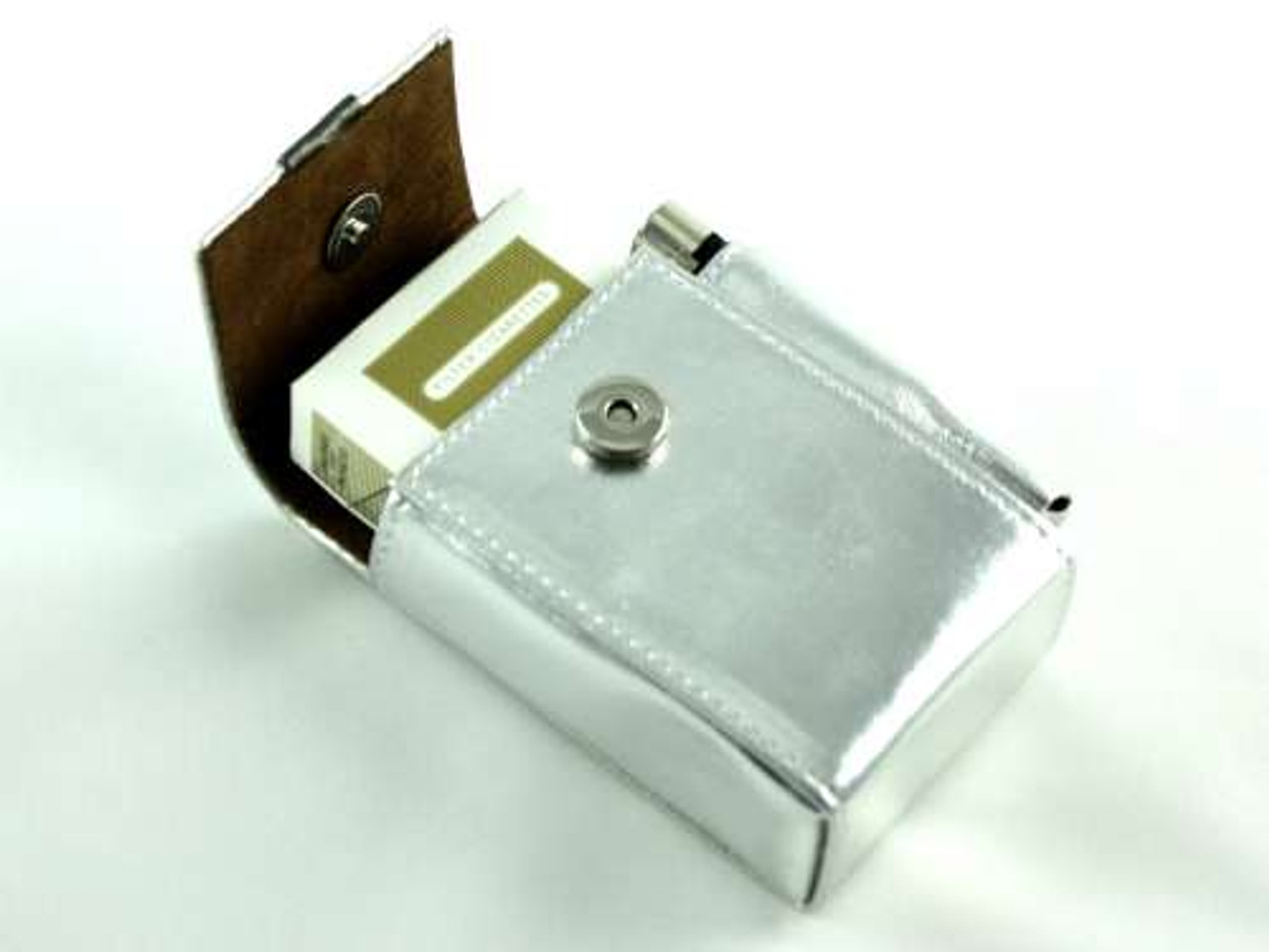 Metallic Silver Cigarette Pack Holder