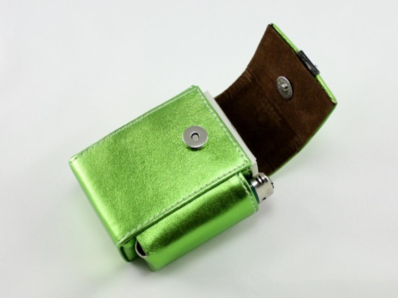 Metallic Green Cigarette Pack Holder