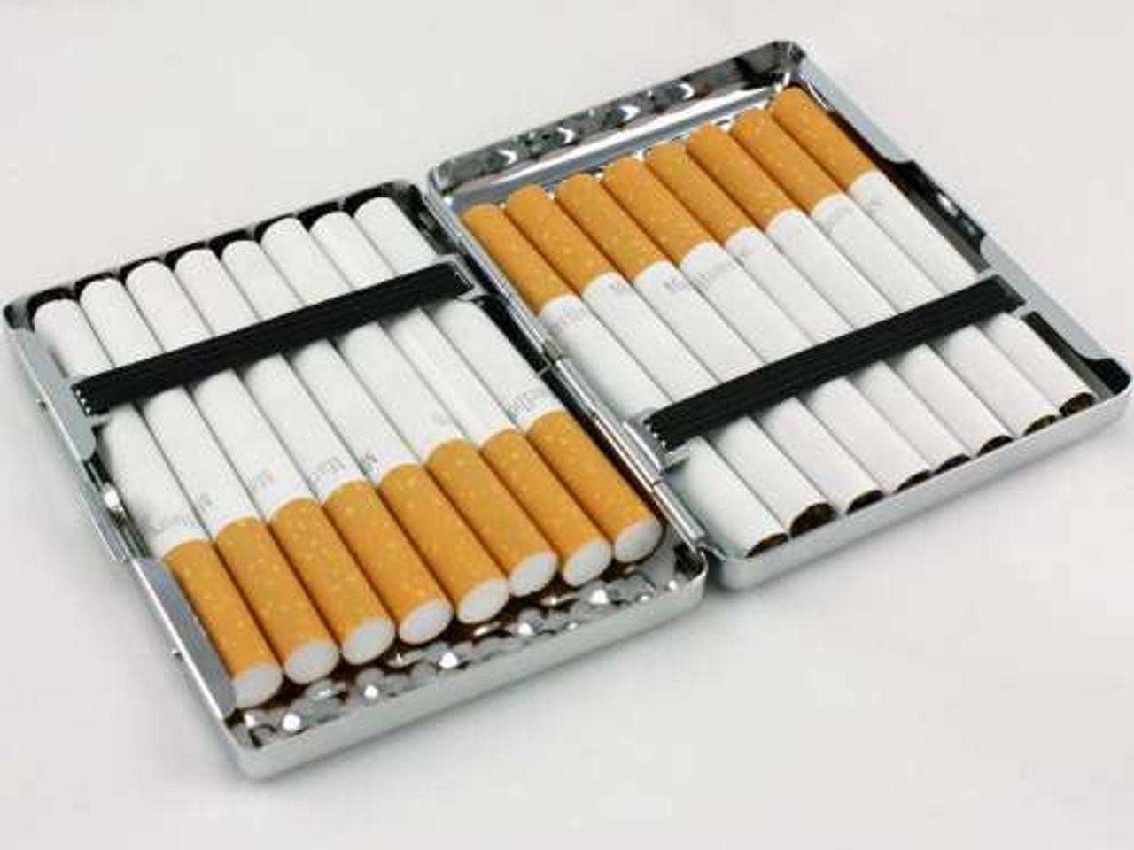 Silver Dimple Cigarette Case