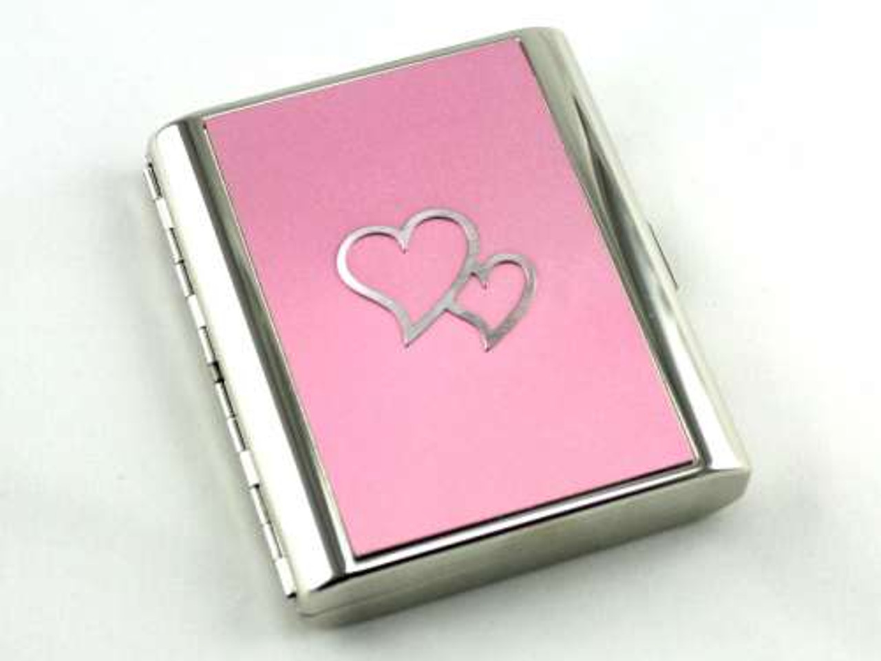 Lucienne Two Hearts Pink Cigarette Case