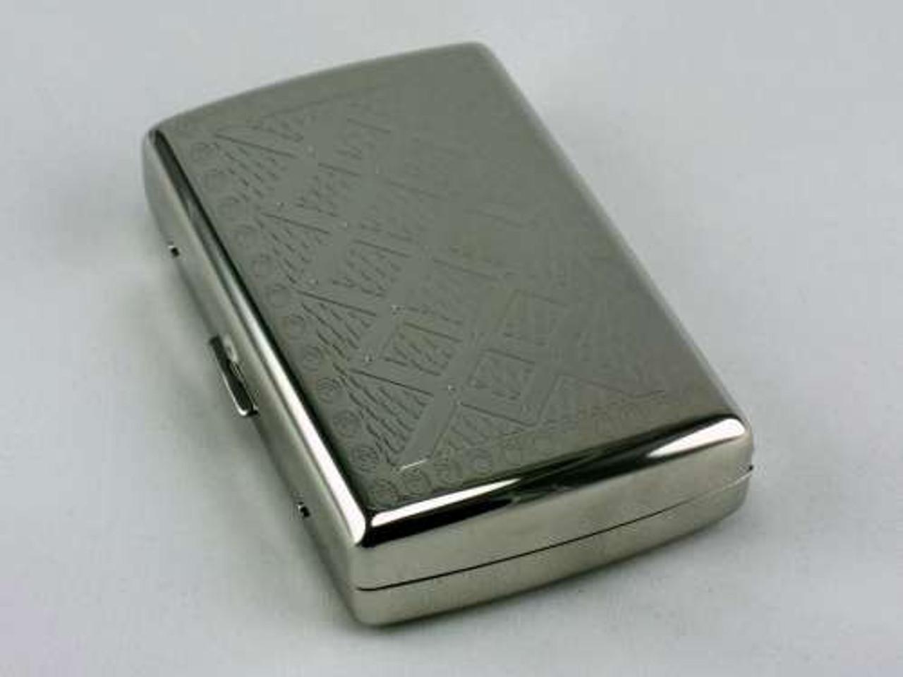 Silver Diamond Cigarette Case