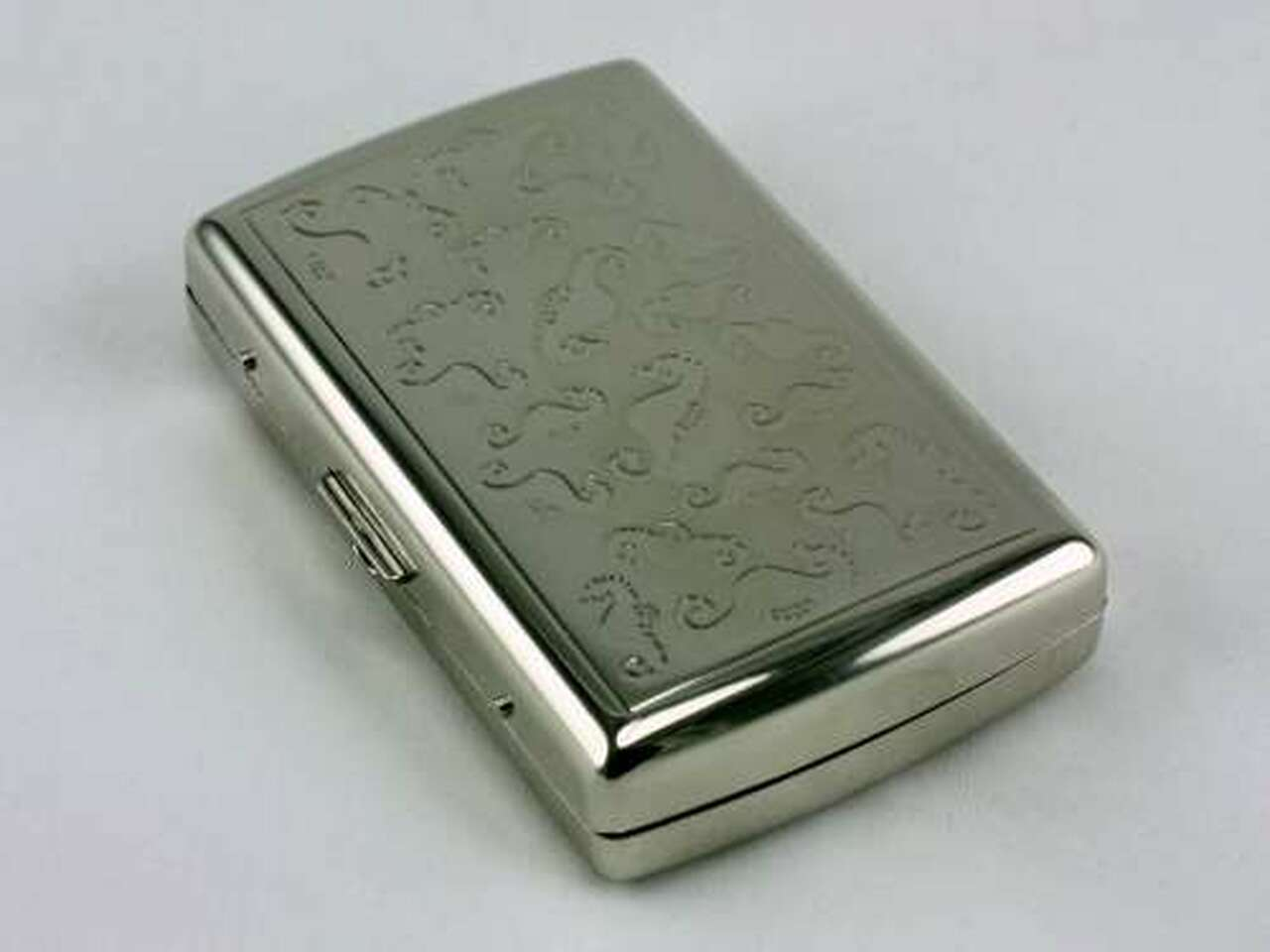 Silver Seahorse Cigarette Case