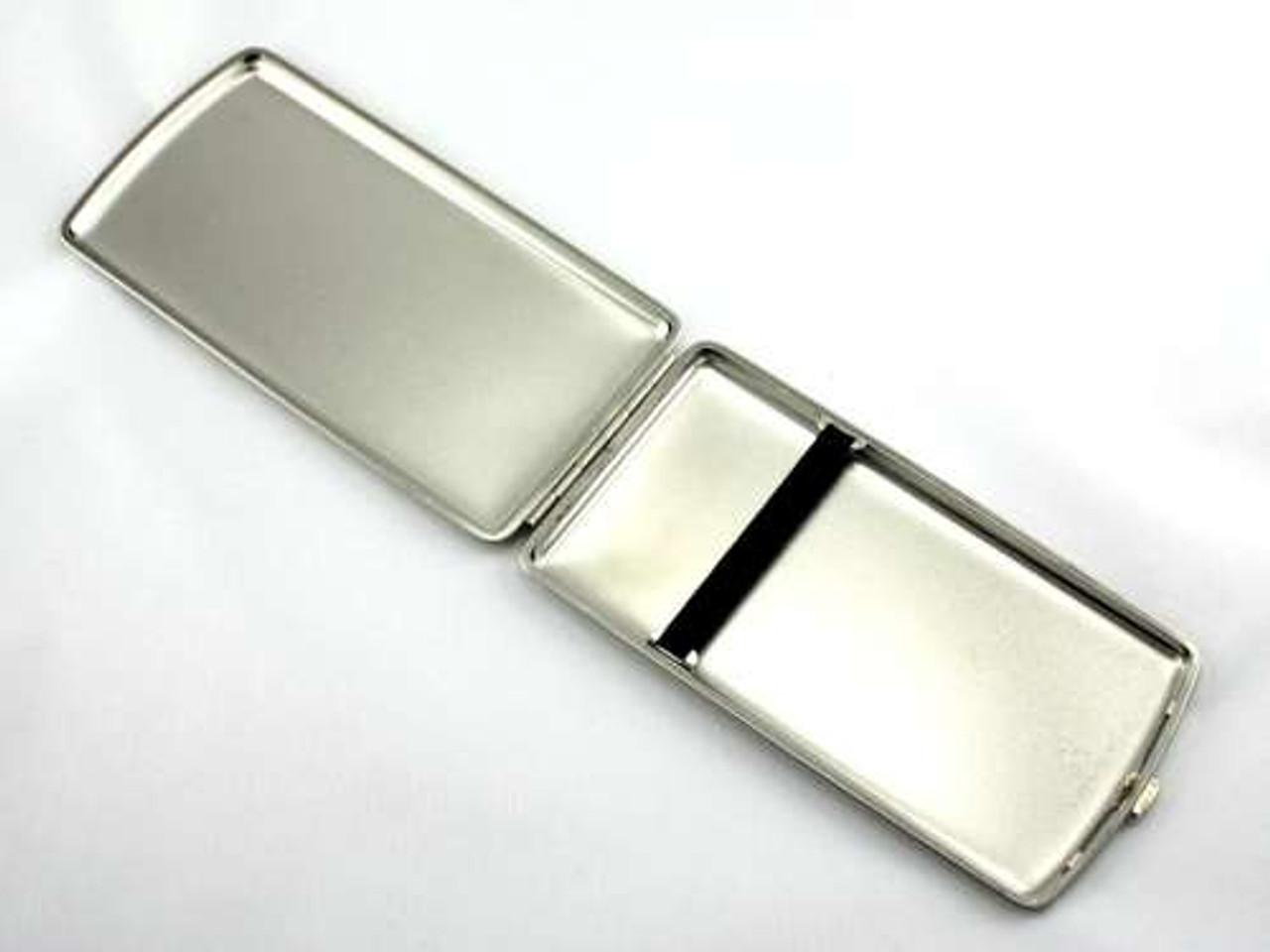 Lucienne Silver Satin Cigarette Case