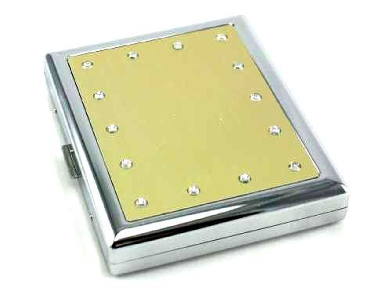 Gold Crystal Cigarette Case