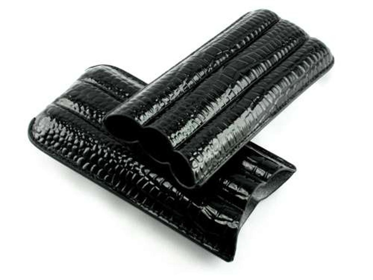 Black Bay Crocodile Cigar Case