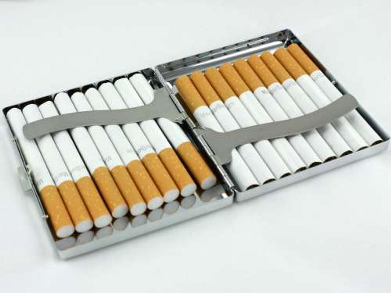 Silver Crystal Cigarette Case