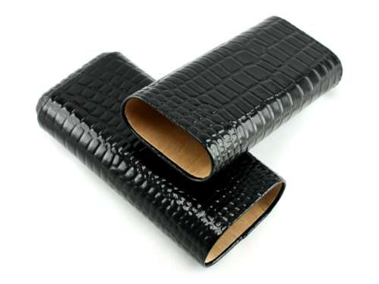 Black Alligator Cigar Case