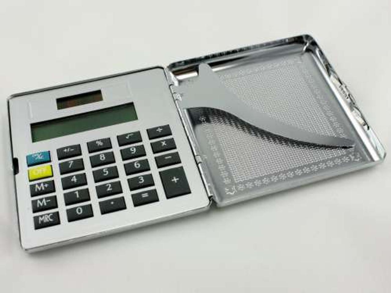 Silver Calculator Cigarette Case