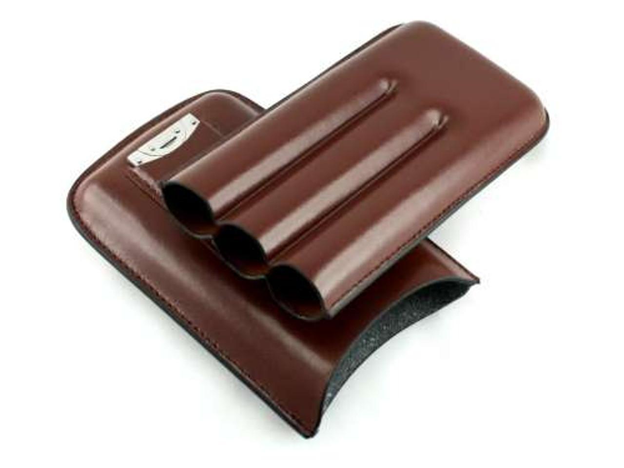 Brown Dalton Cigar Case with Cutter