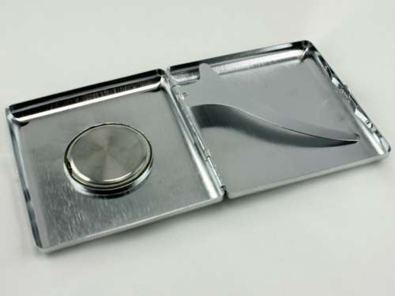 Silver Watch Cigarette Case