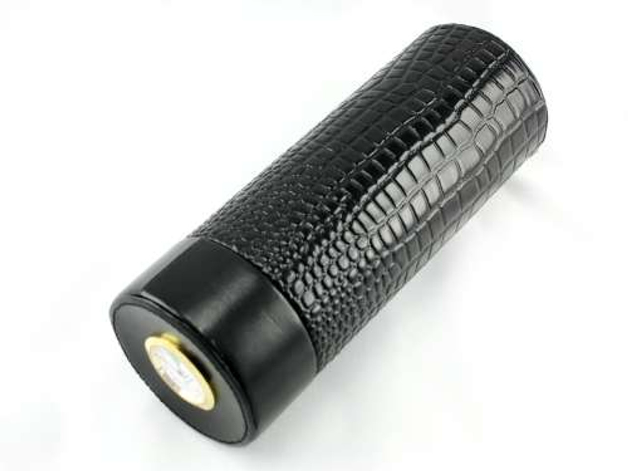 Black Alligator Infinity Cigar Tube with Hygrometer and Humidifier