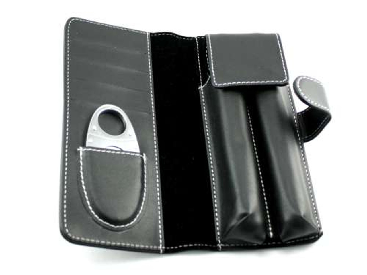 Deluxe Cigar Tube Gift Set with Flask and Cutter