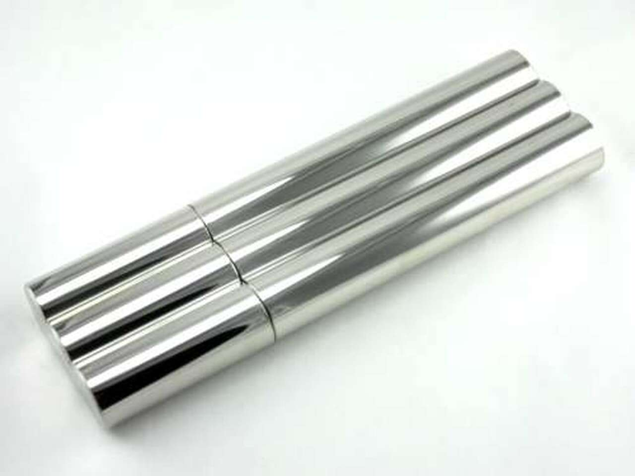 Silver Deluxe Double Cigar Tube with Flask