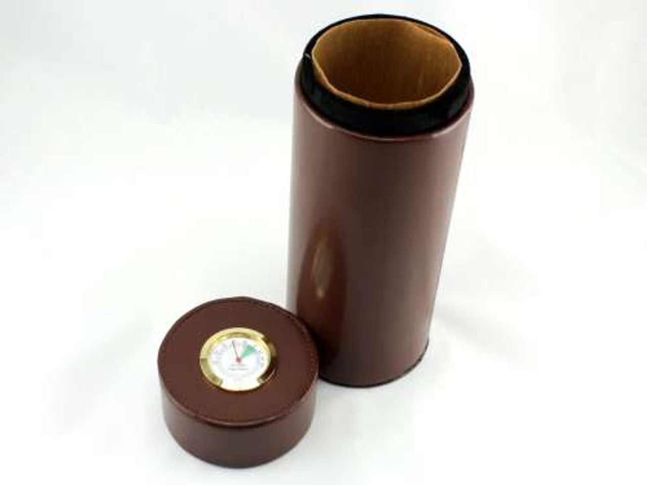 Brown Infinity Cigar Tube with Hygrometer and Humidifier