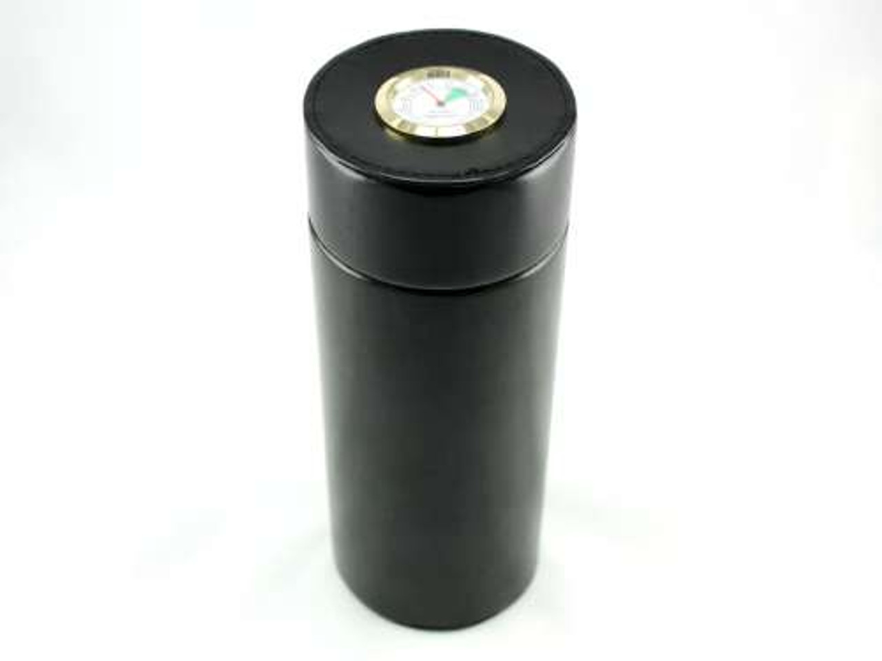 Black Infinity Cigar Tube with Hygrometer and Humidifier