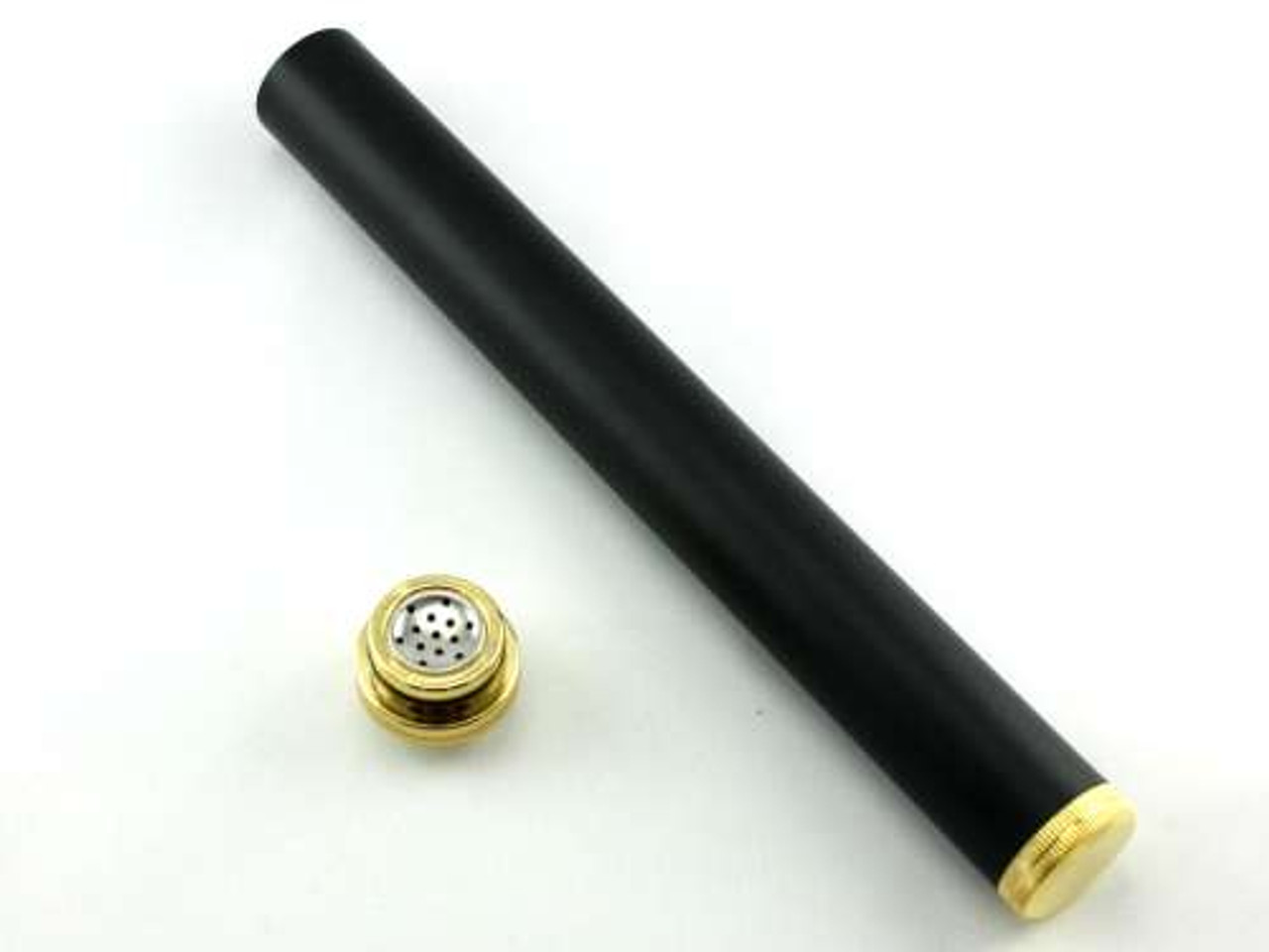 Black Century Cigar Tube with Hygrometer and Humidifier